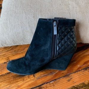 BCBGeneration suede wedge booties